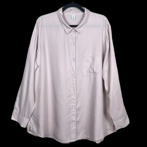 Old Navy Button Front Relaxed Tunic Blouse
